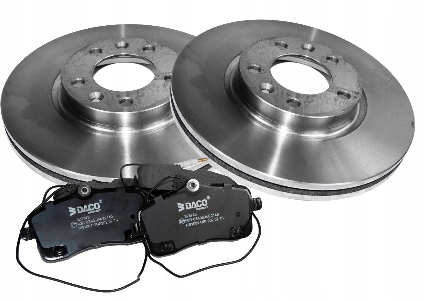 диски + колодки peugeot 407 607 283x26mm вперед