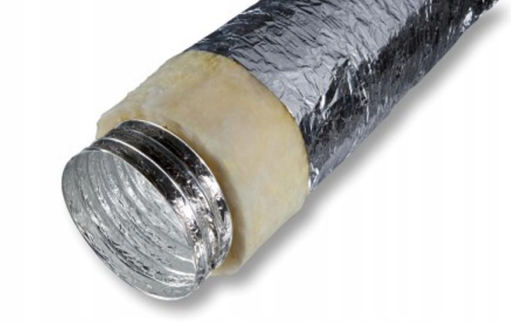 Przewód izolowany kanał rura spiro termoflex 100
