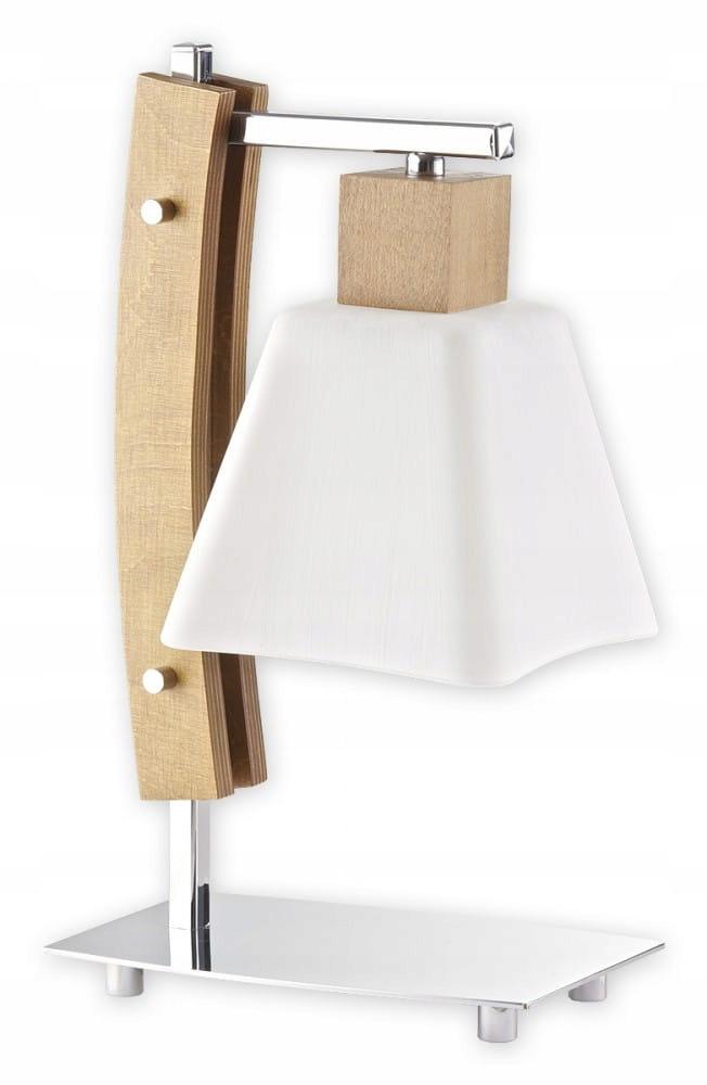 DRENO nočné svetlo Stolná lampa dreva dub 34 cm