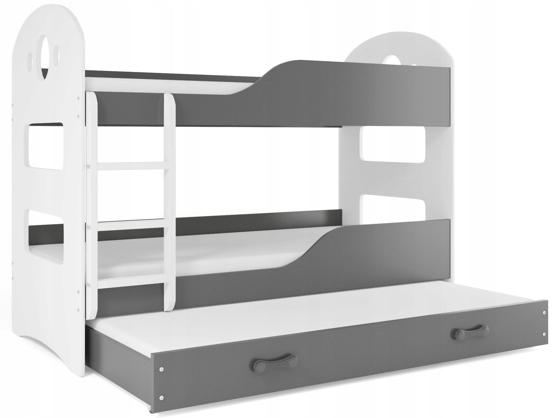 Łóżko piętrowe DOMINIK 190x80 DOMEK 3 MATERACE