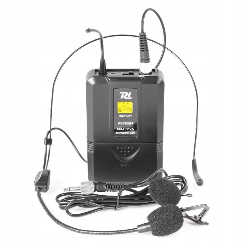 2x UHF mikrofón - nadpis + Lavalier na klipe