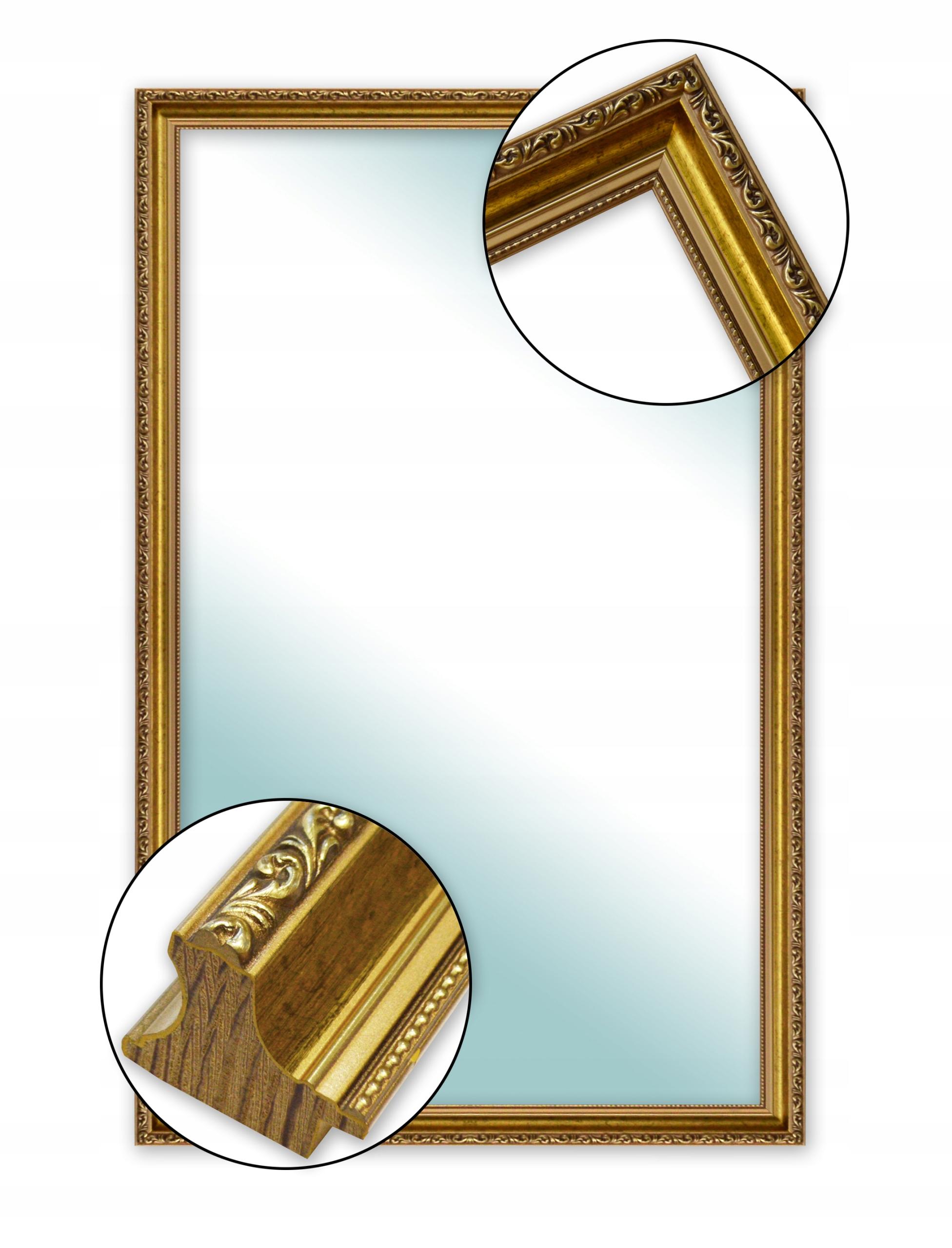Настенное зеркало для ванной комнаты в белой серебряной золотой раме