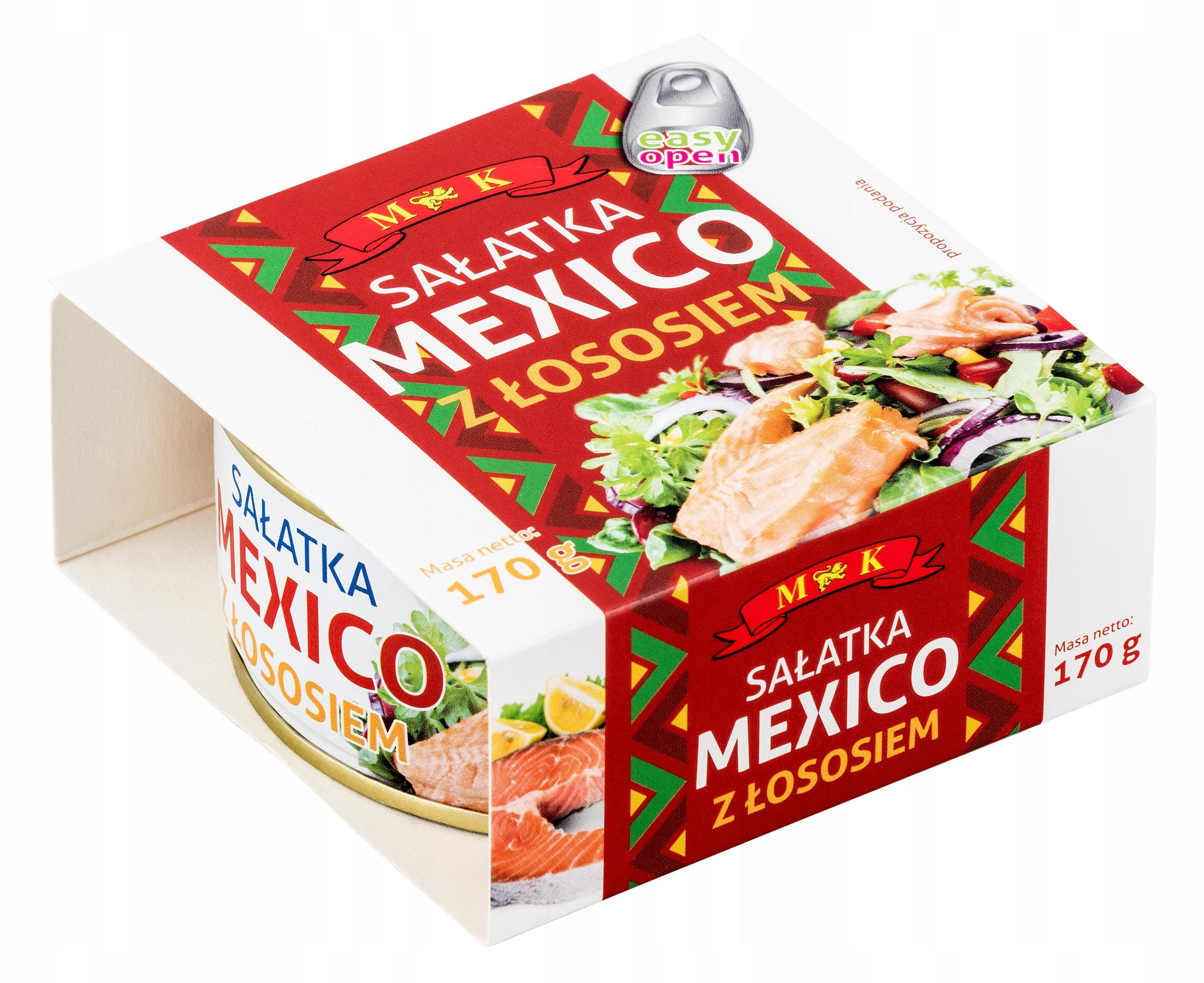 Купить Салат meksykńska с лососем 170г. МК на Otpravka - цены и фото - доставка из Польши и стран Европы в Украину.