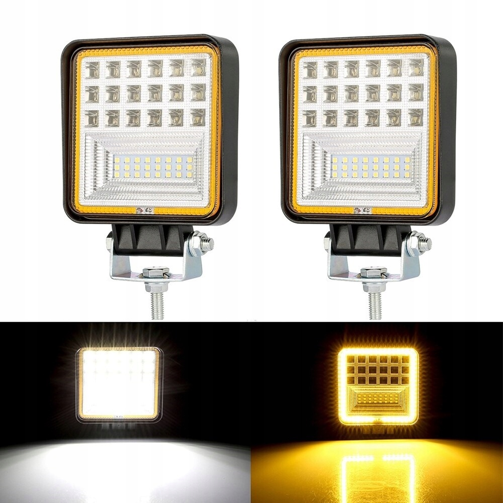 Набор из 2 галогенных светодиодных рабочих ламп 126 Вт (9-32 В)