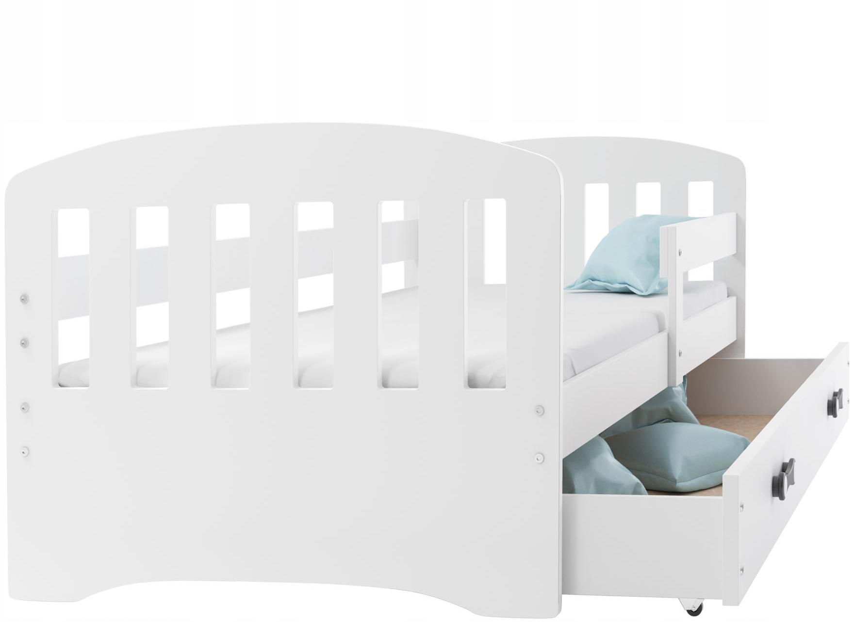 Łóżko HAPPY dziecięce 160x80 i materac i szuflada