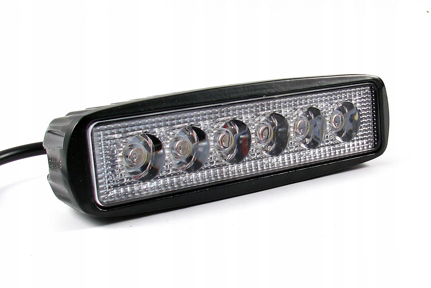 панель 6 led x3w 18w лампа рабочая 12v 24v ip67 e9