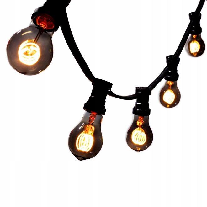 VLKOVCOVÝ svetlo 5 mb +5 LED Čierna Vintage TA60