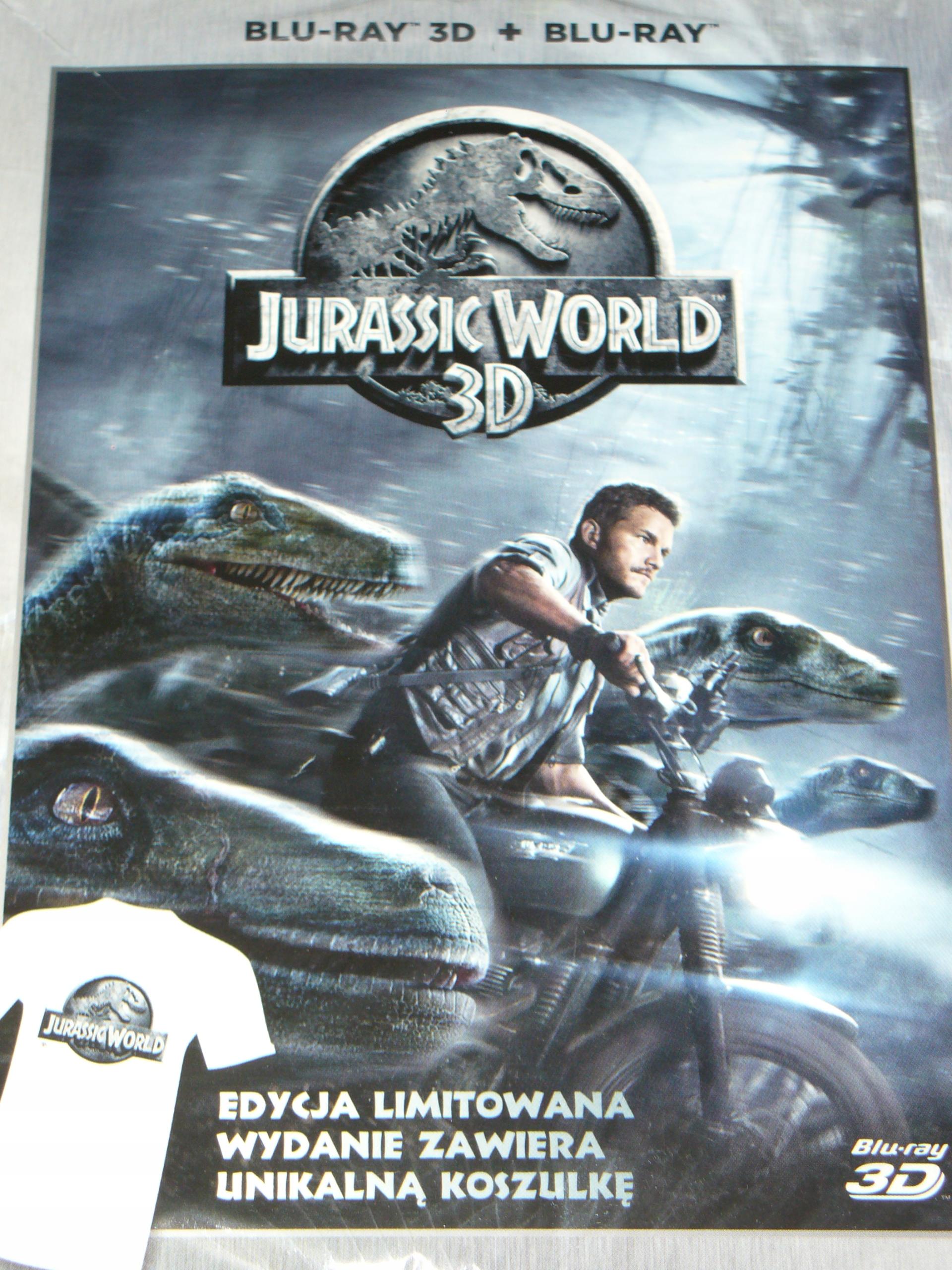 Item JURASSIC WORLD 3D blu-ray + t-SHIRT FILM ! VAT !