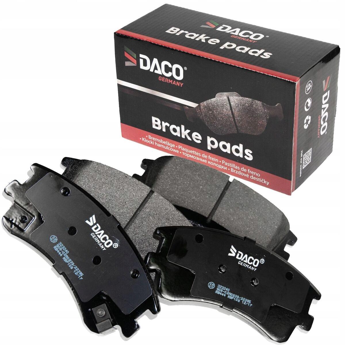 Тормозные колодки DACO FRONT Mazda 6 GG / GY 2002-