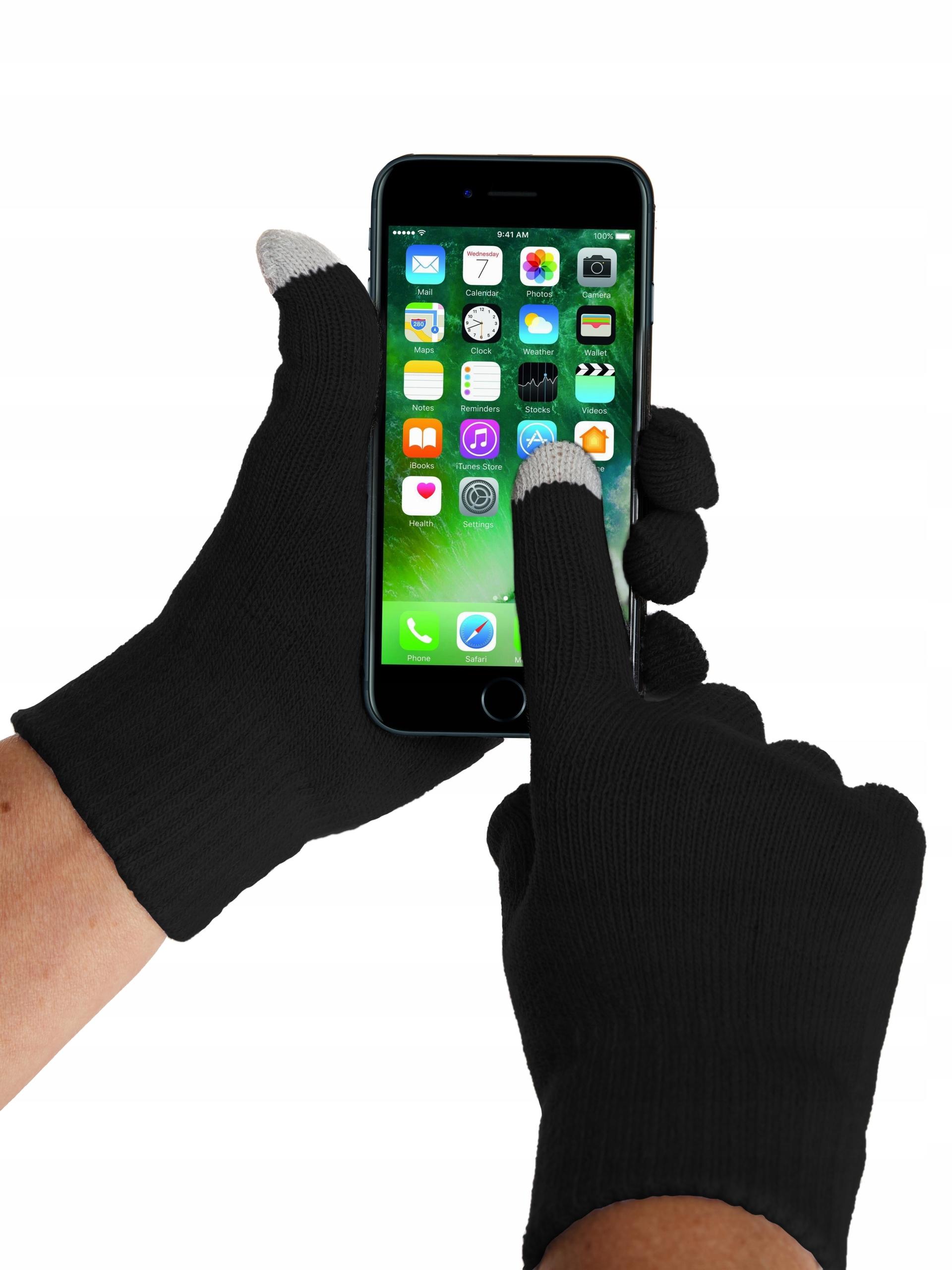 Rękawiczki zimowe damskie dotykowe do telefonu