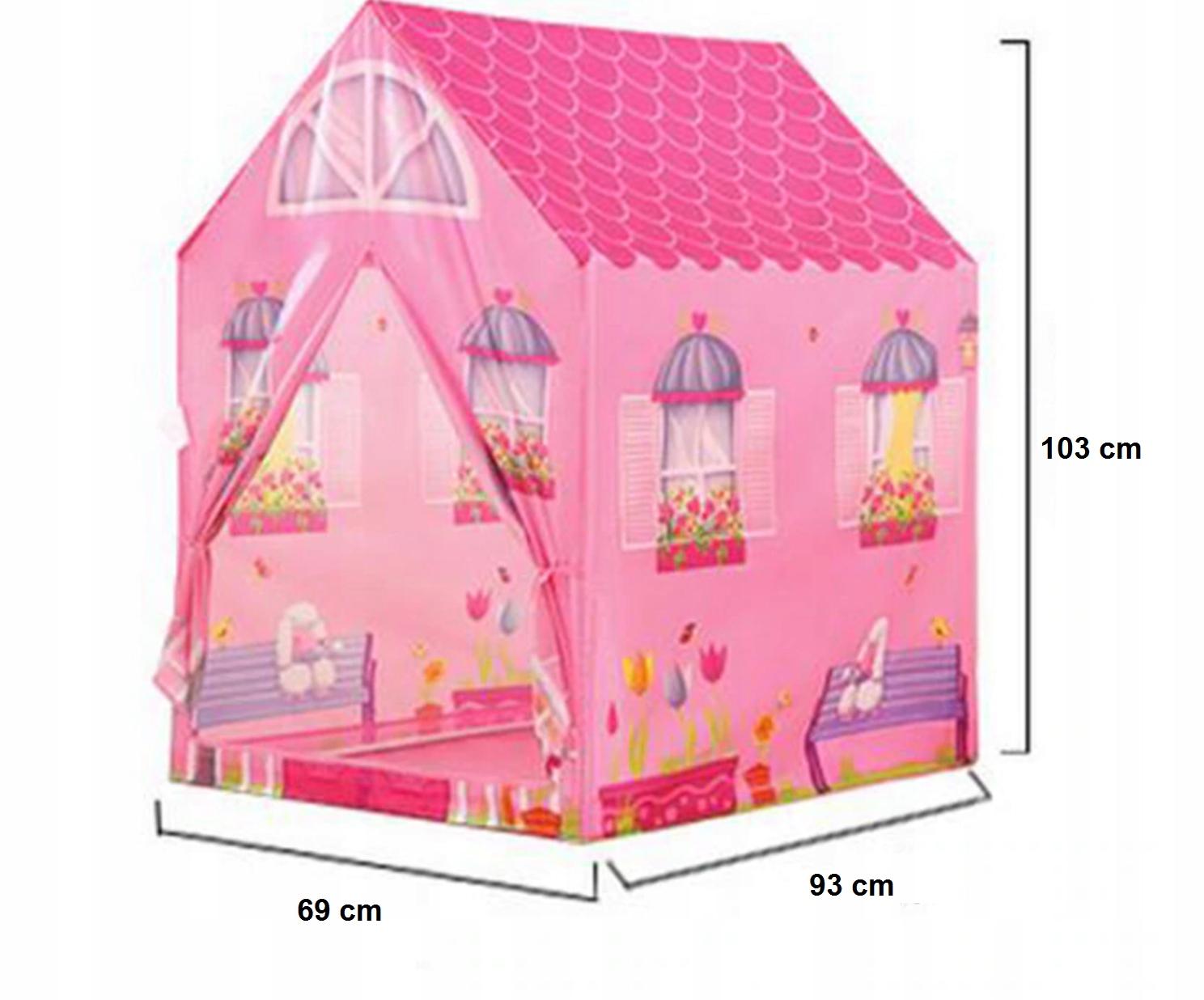 Namiot domek dla dzieci podłoga dwa wejścia 70B Rodzaj Domki