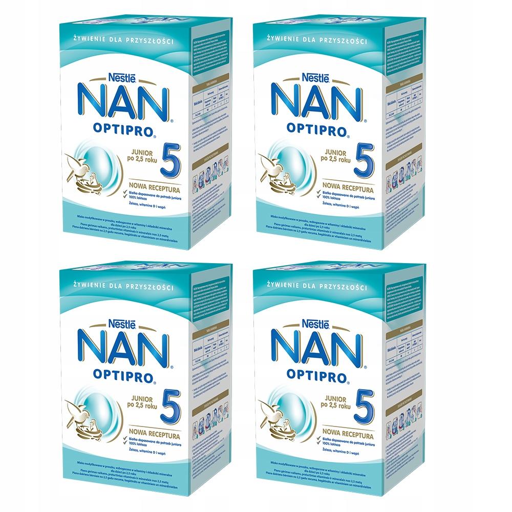 NESTLE NAN OPTIPRO 5 молоко изменены 4x800g