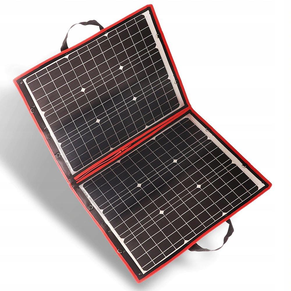 Solárna nabíjačka 12V solárny panel 80W taška