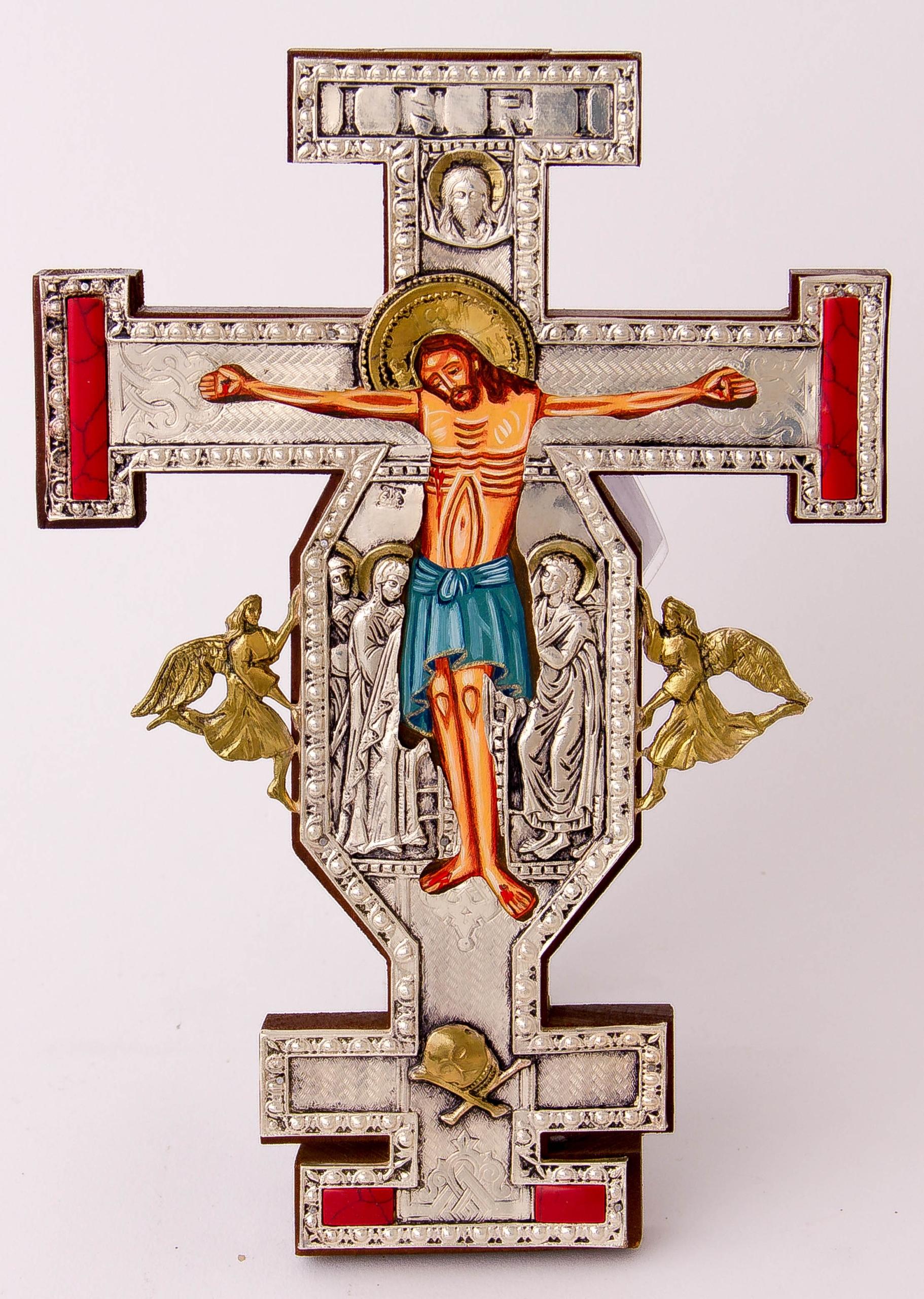 Krucyfiks gotycki KAMIENIE JUBILERSKIE nr 125P