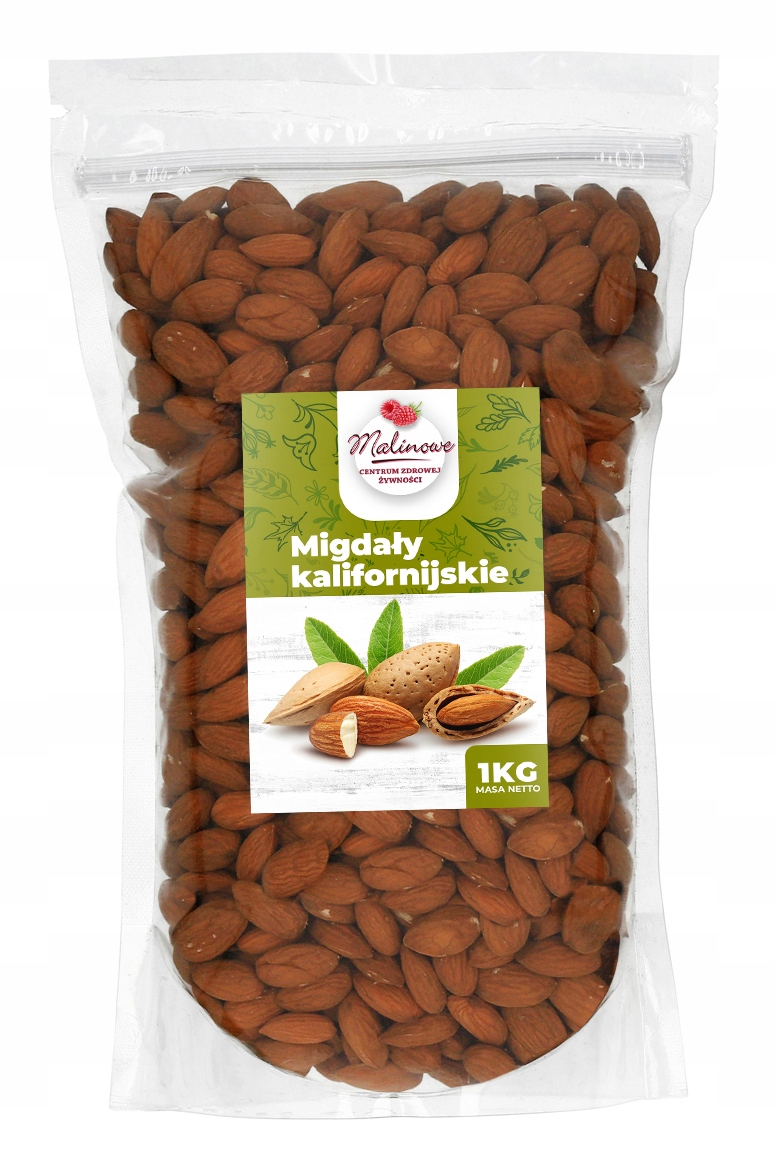 Item CALIFORNIA ALMONDS WHOLE 1KG XXL PREMIUM LARGE
