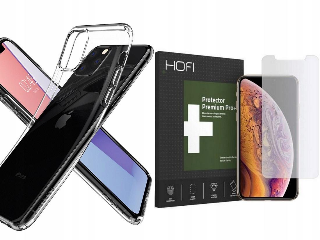 Spigen Liquid - Etui Case Do Iphone 11 Pro + Szkło
