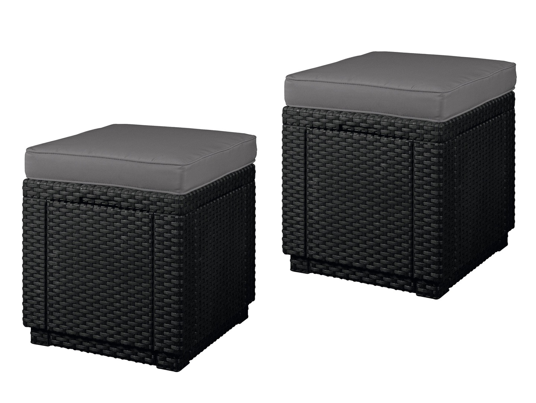 2 SÍDLO NÁBYTOK STOLIČKA Cube Curver GRAFIT