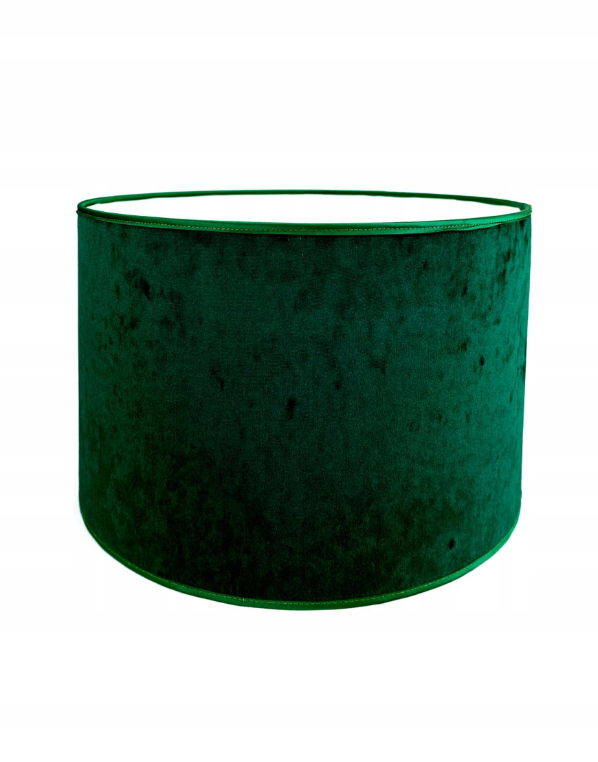 Abażur Premium Owal PCV Welur Zielony 11x11x15 cm