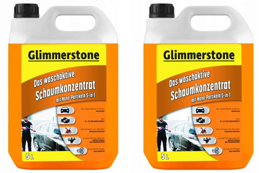 Item GERMAN SET of 2 x 5L = 10L ACTIVE FOAM ORANGE