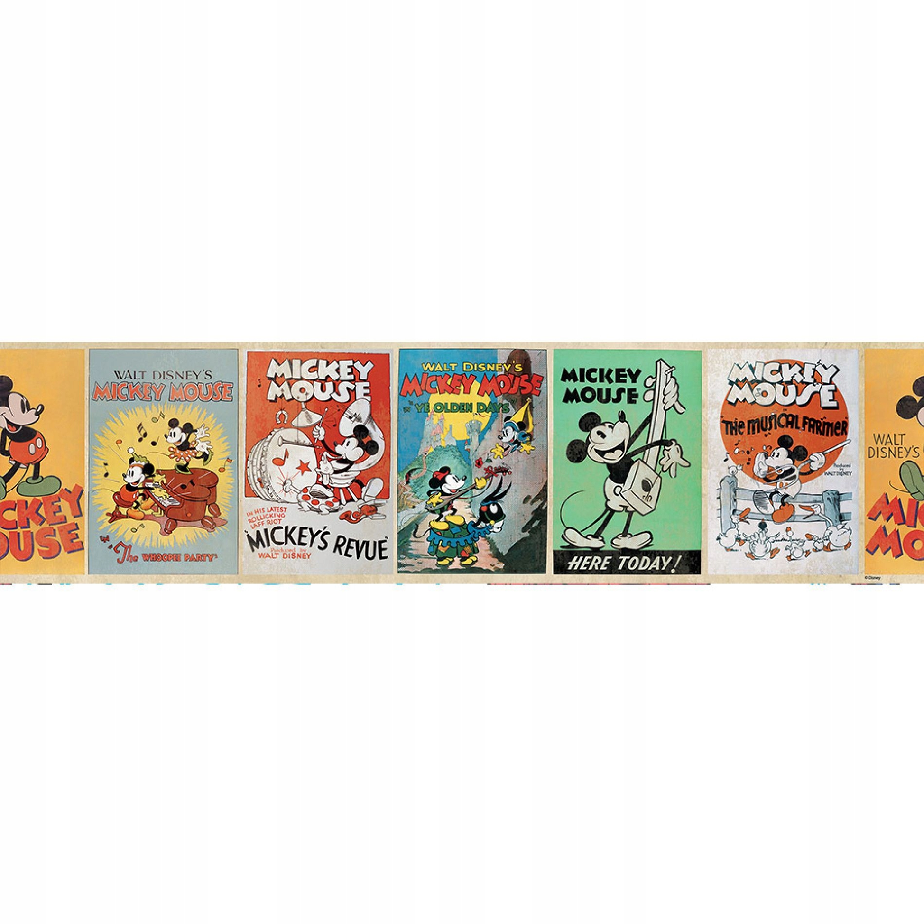 Tapety hraníc Disney Mickey mouse vintage