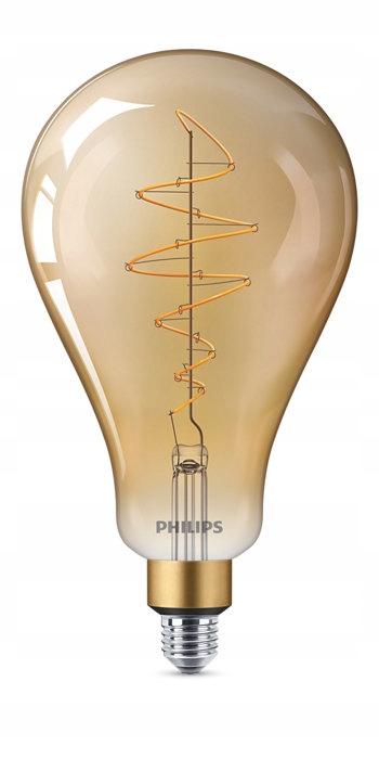 LED žiarovka E27 6.5 V roku 2000 vintage PHILIPS Dimm