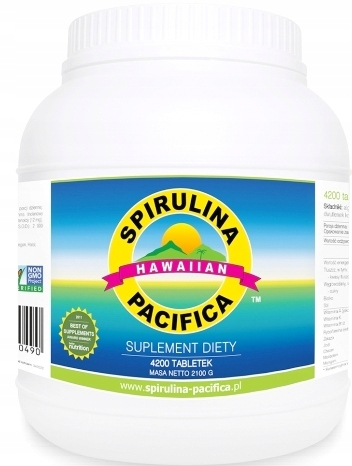 Item SPIRULINA HAWAJSKA PACIFICA 500 MG 4200 TABLETEK