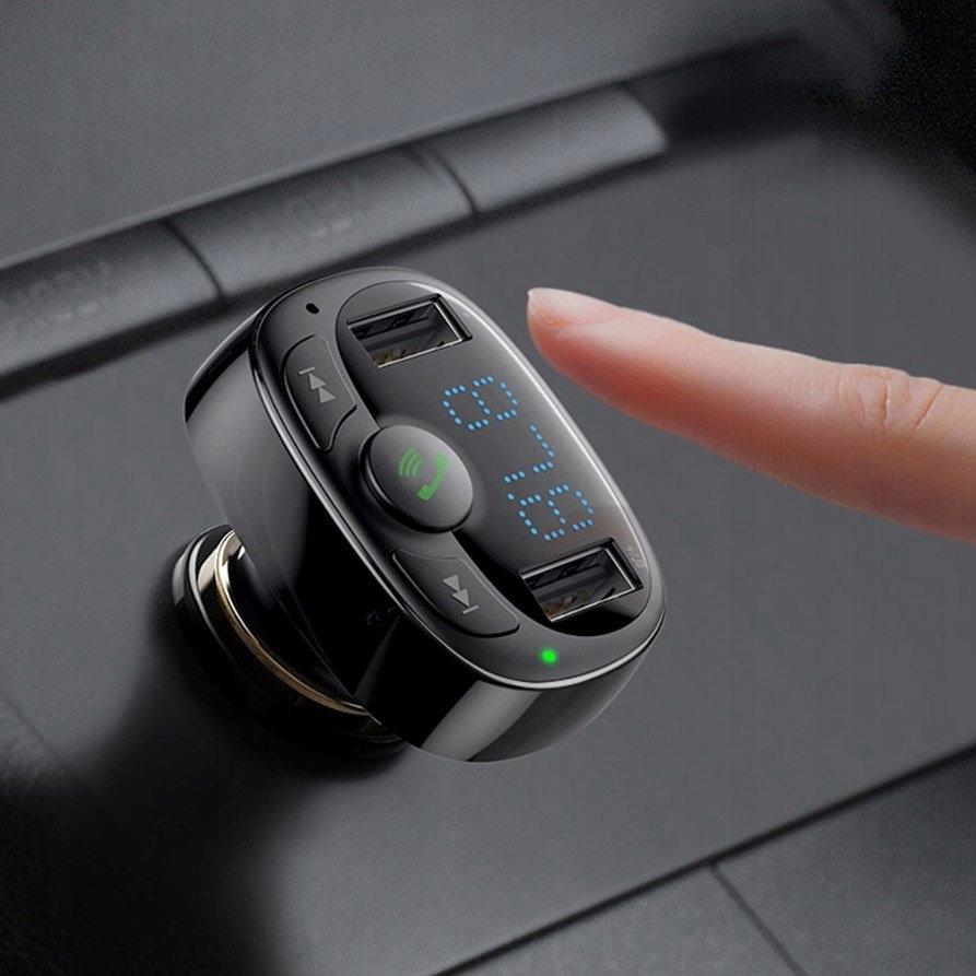 Baseus Bluetooth FM-sender MP3-lader 2xUSB USB-støtte ja