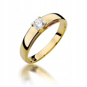 ZÁSNUBNÝ PRSTEŇ GOLD 585 DIAMOND 0,23 ct