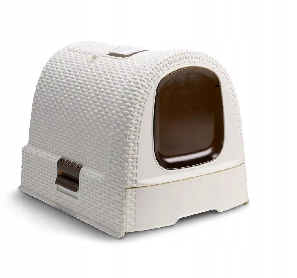CURVER Kuweta toaleta dla kota beżowa