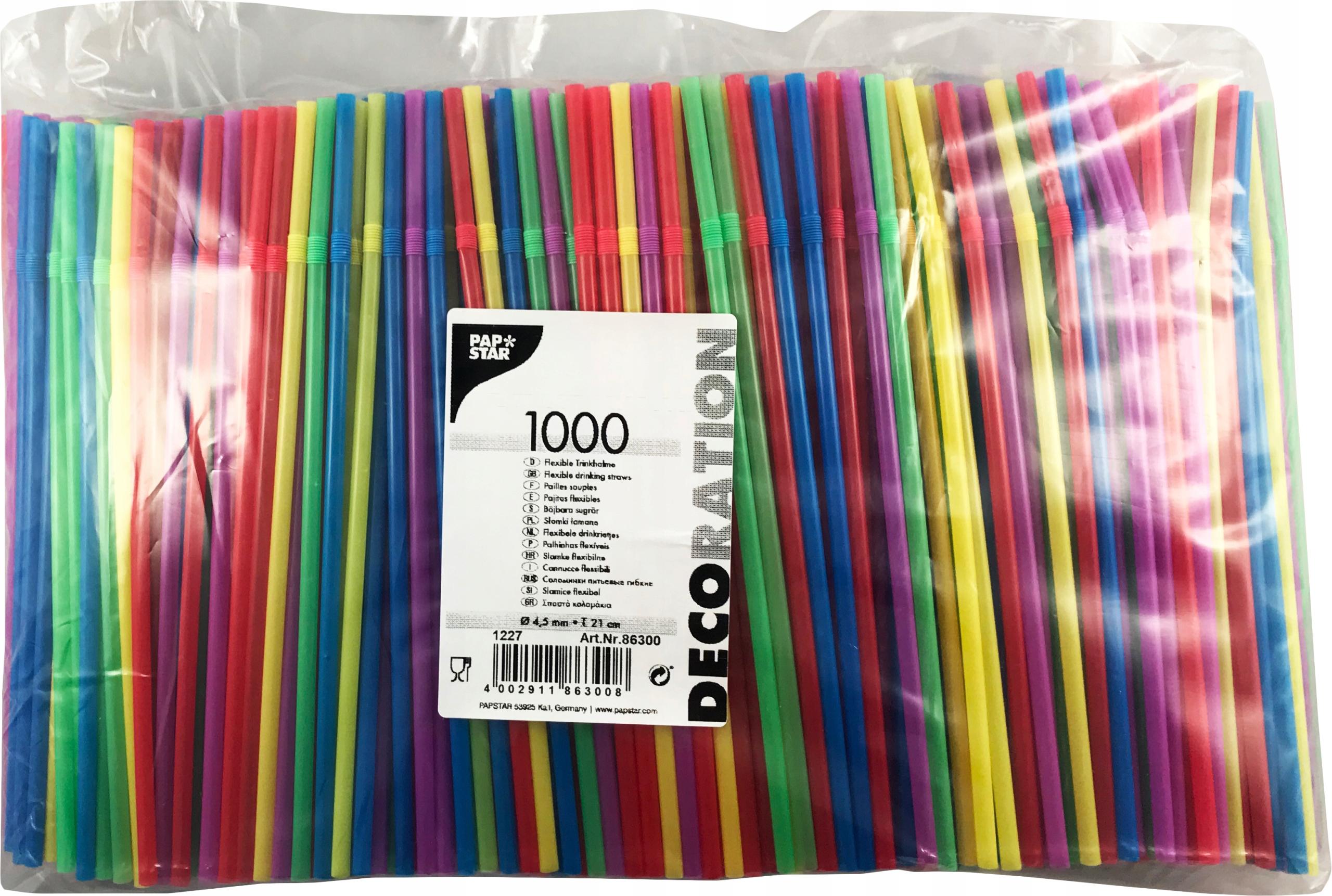 Słomka plastikowa łamana fi-5 1000szt