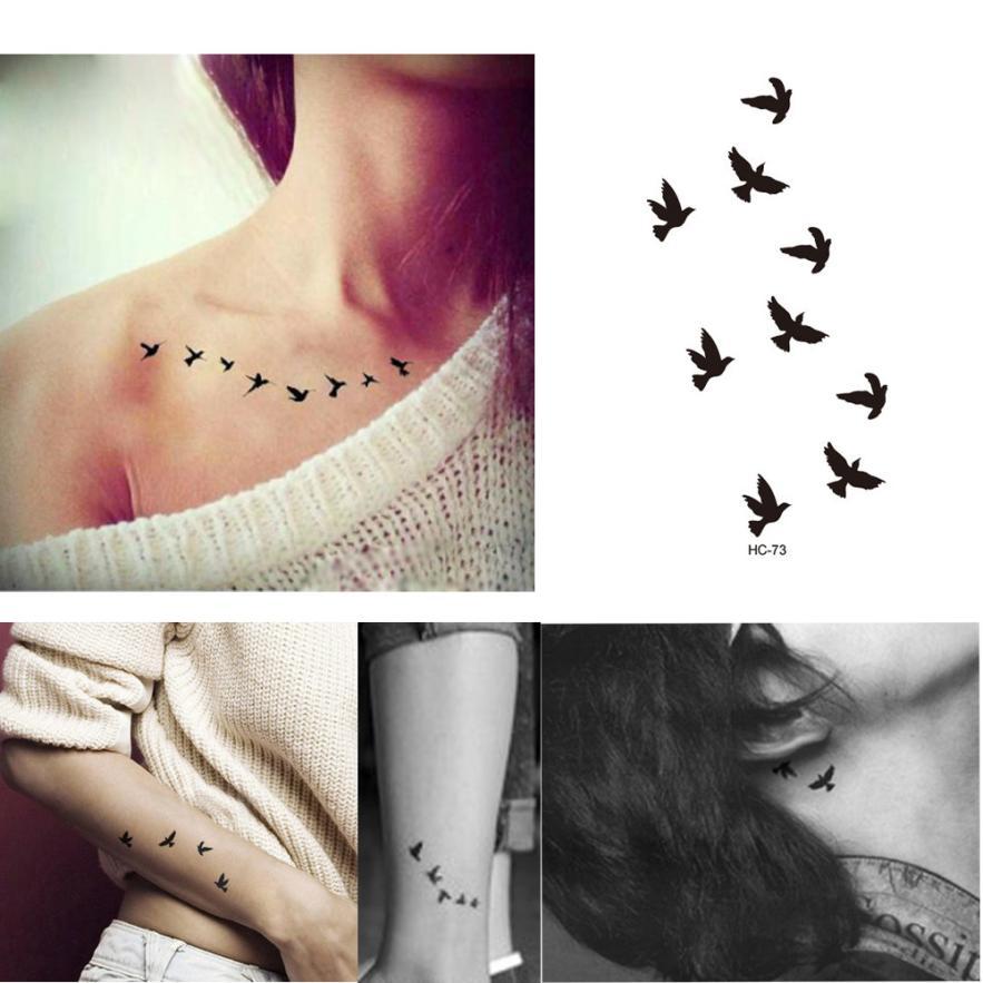 Tatuaż Tymczasowy Ręka Noga Ptaszki Ptak Wolność