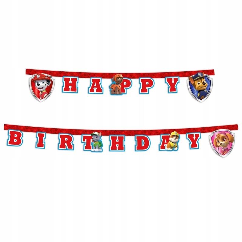 Купить Баннер на день Рождения Бумажный Собачий Патруль-200см на Otpravka - цены и фото - доставка из Польши и стран Европы в Украину.