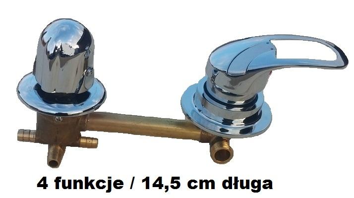 BATÉRIA do sprchového kúta 4 funkcie 14,5 cm