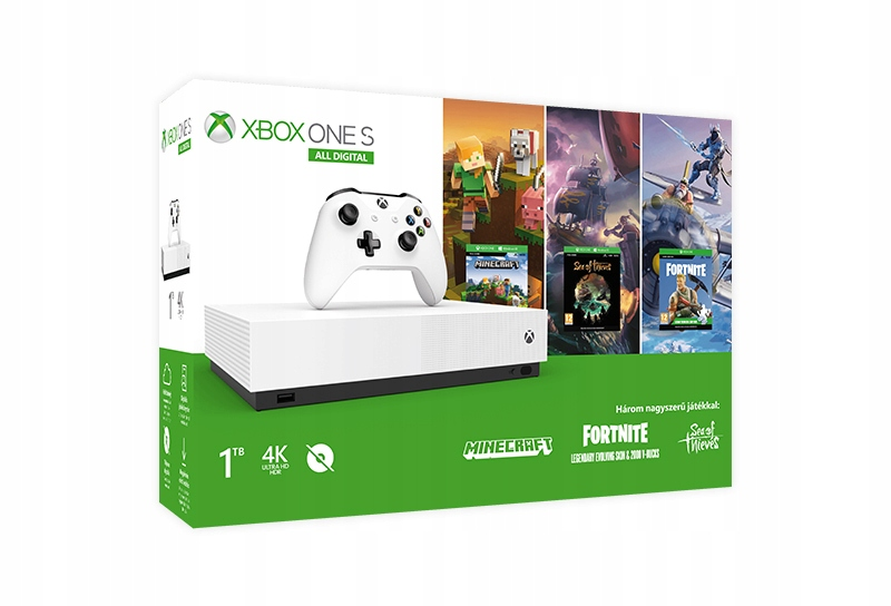 Item NEW XBOX ONE 1TB ALL DIGITAL S 3x GAME + LIVE GOLD