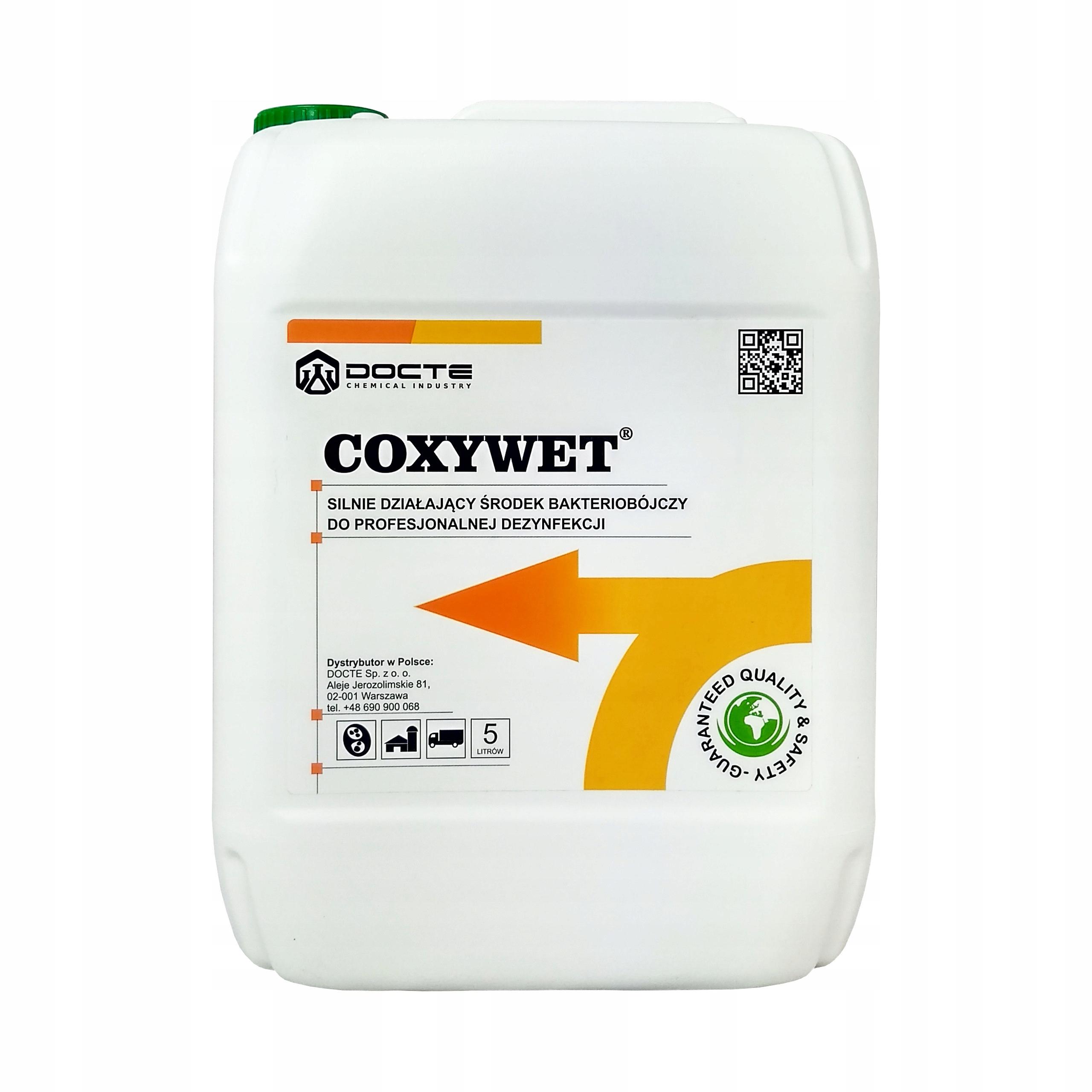 COXYWET na dezinfekciu plôch, predmetov, 5L