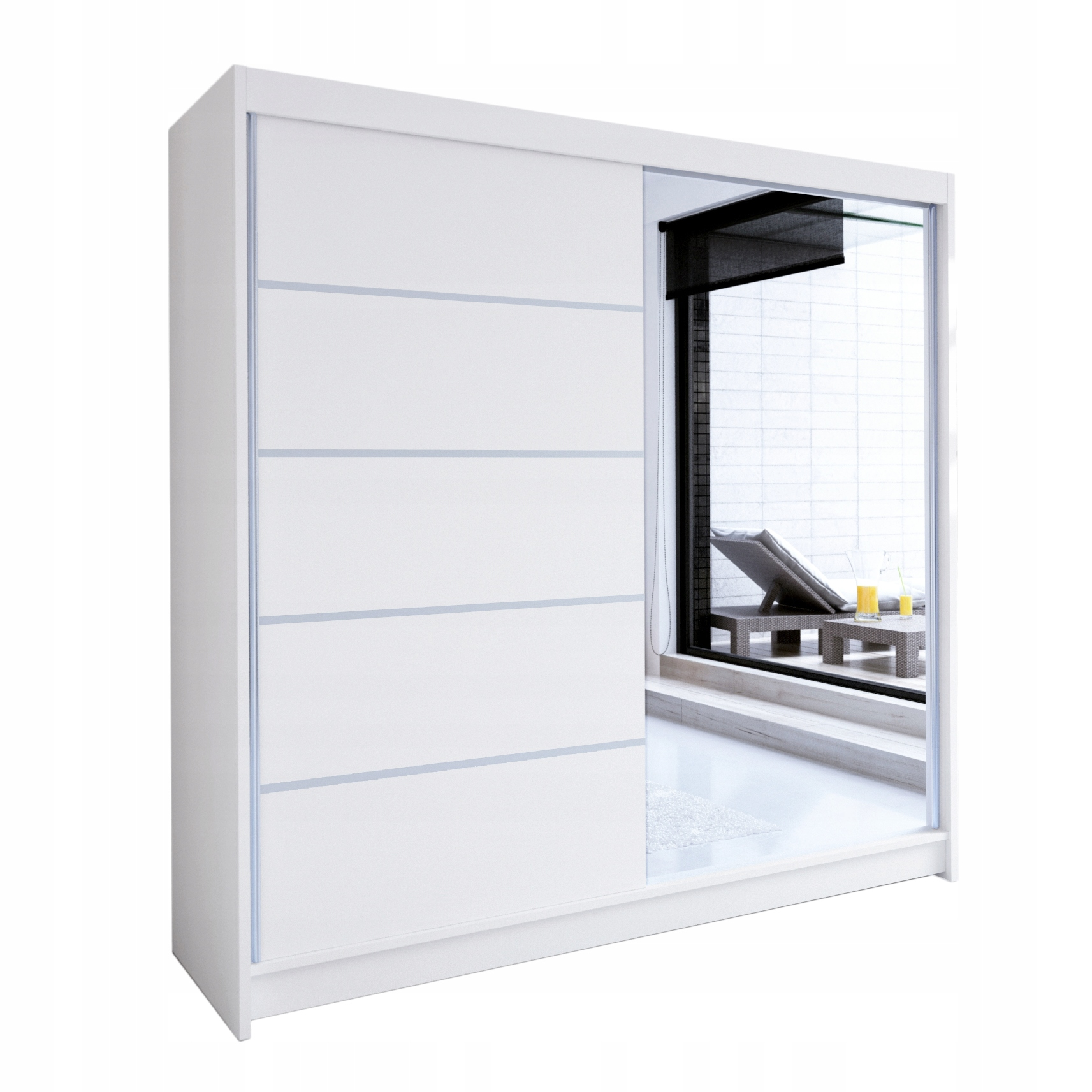 ГАРДЕРОБ с раздвижными дверями TALIN III 180 зеркало