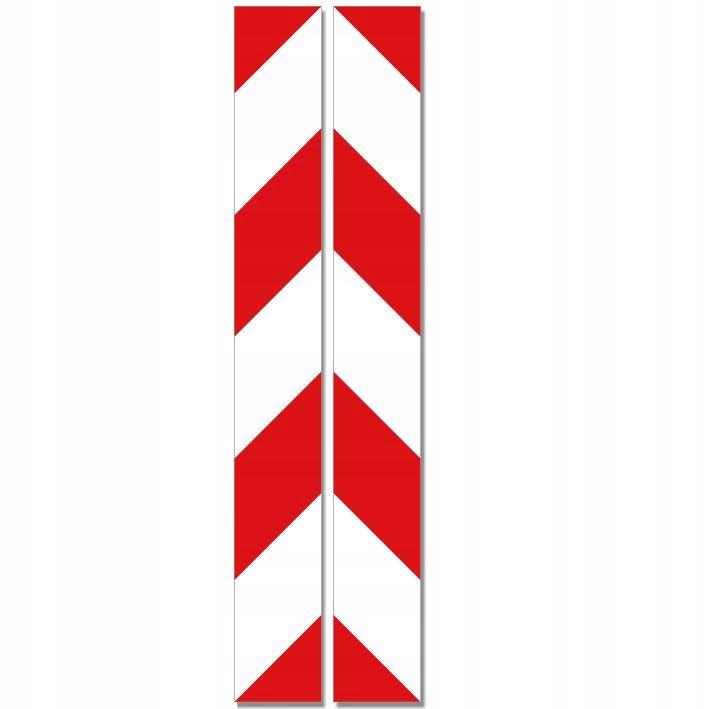 ПРЕДУПРЕЖДАЮЩИЕ НАКЛЕЙКИ на ПОЛОСКИ белый - красный 5x40см