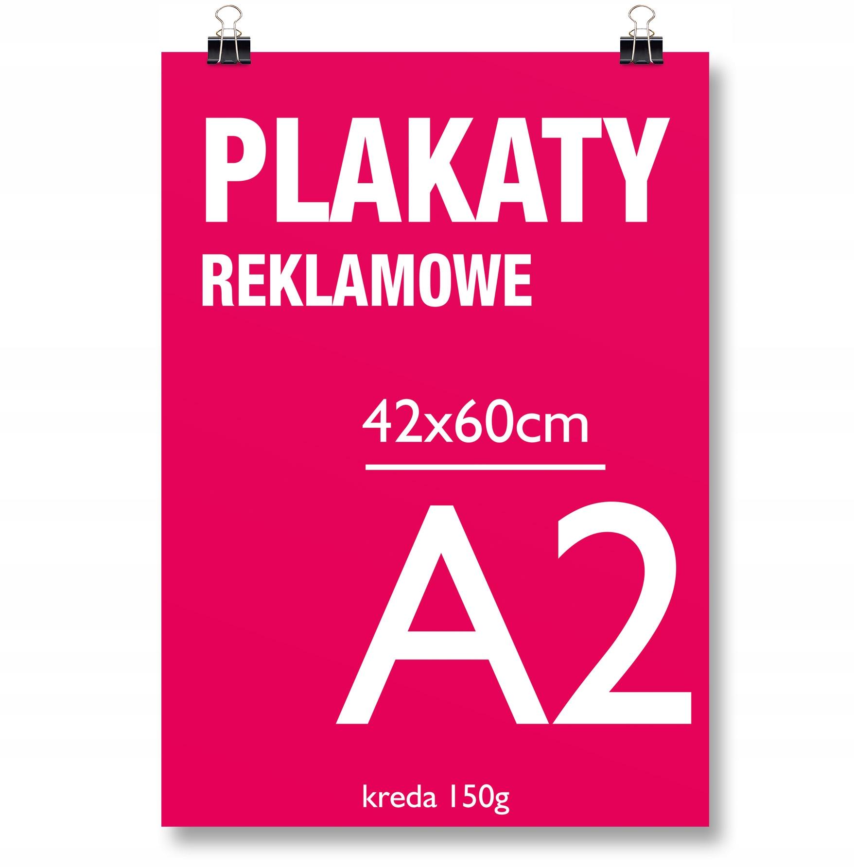Plakat A2 42x60 Papier 150g Druk