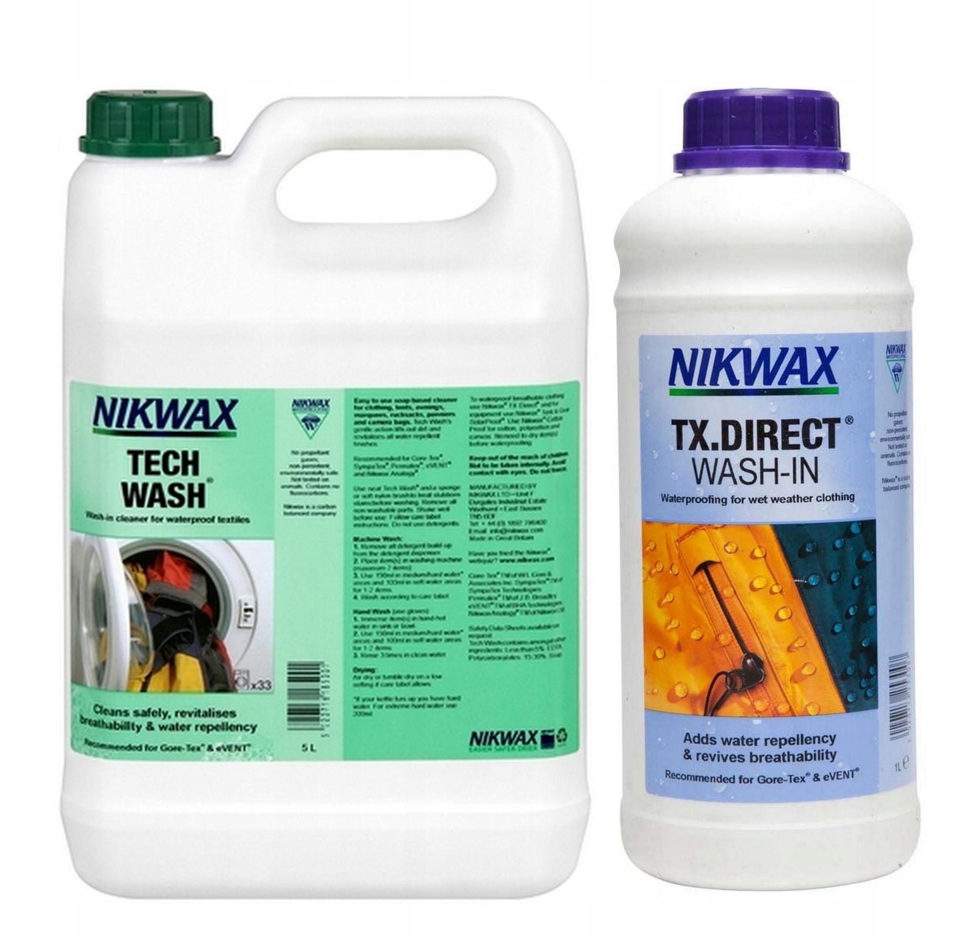 Nikwax TECH WASH-pracia Kvapalina 5 L + TX Direct 1L