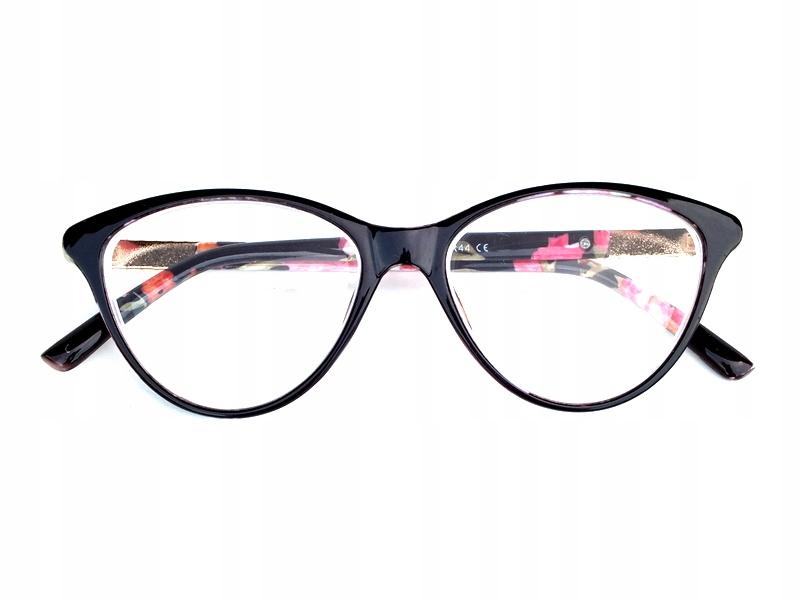 okuliare proti -3 kvety retro black opt