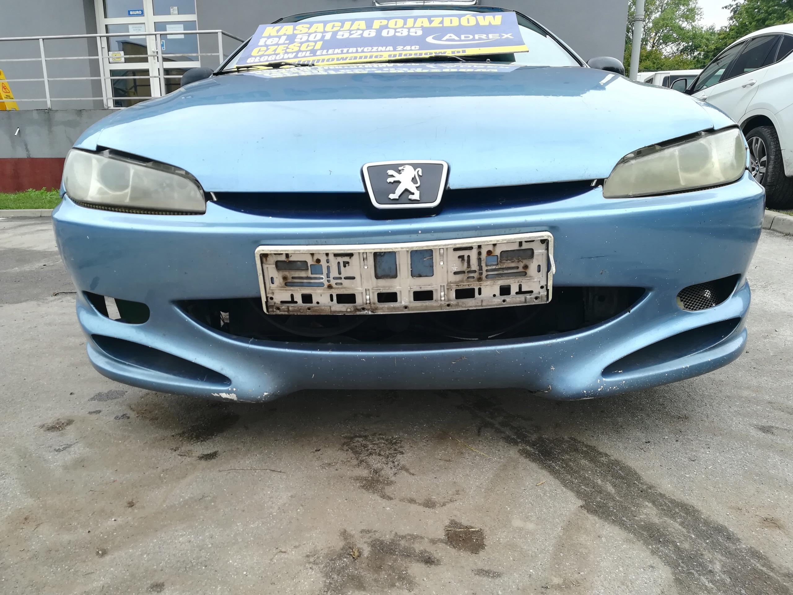 Przedni Zderzak Przod Peugeot 406 Coupe Glogow Allegro Pl