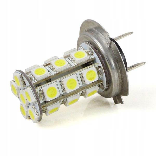 Лампочка автомобильная h7 4w 12v тепла белый 24x 5050