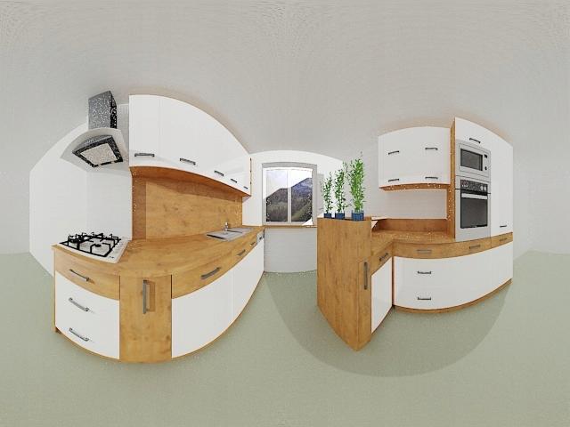 Кухонная мебель ВИГО белый глянец, индивидуальная