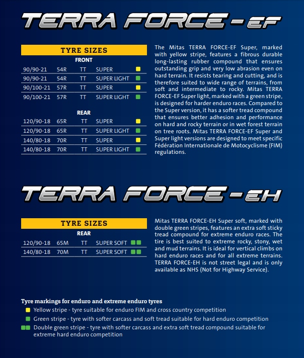 FIM Mitas Terra Force-EF 90//100-21 57R TT Super Light