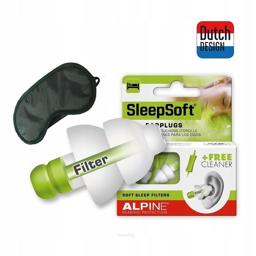 ZATYCZKI STOPERY DO USZU ALPINE SLEEPSOFT i OPASKA