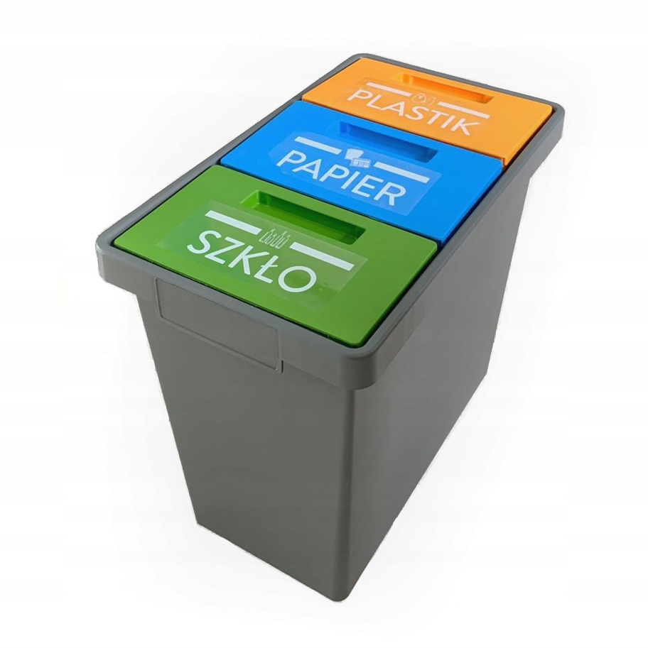 Контейнер для мусора с тройным мусорным баком 40л