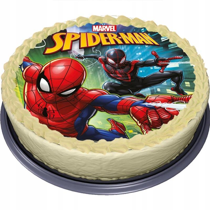 торт с сахарной картинкой человек паук фото территория, парковка, квартира