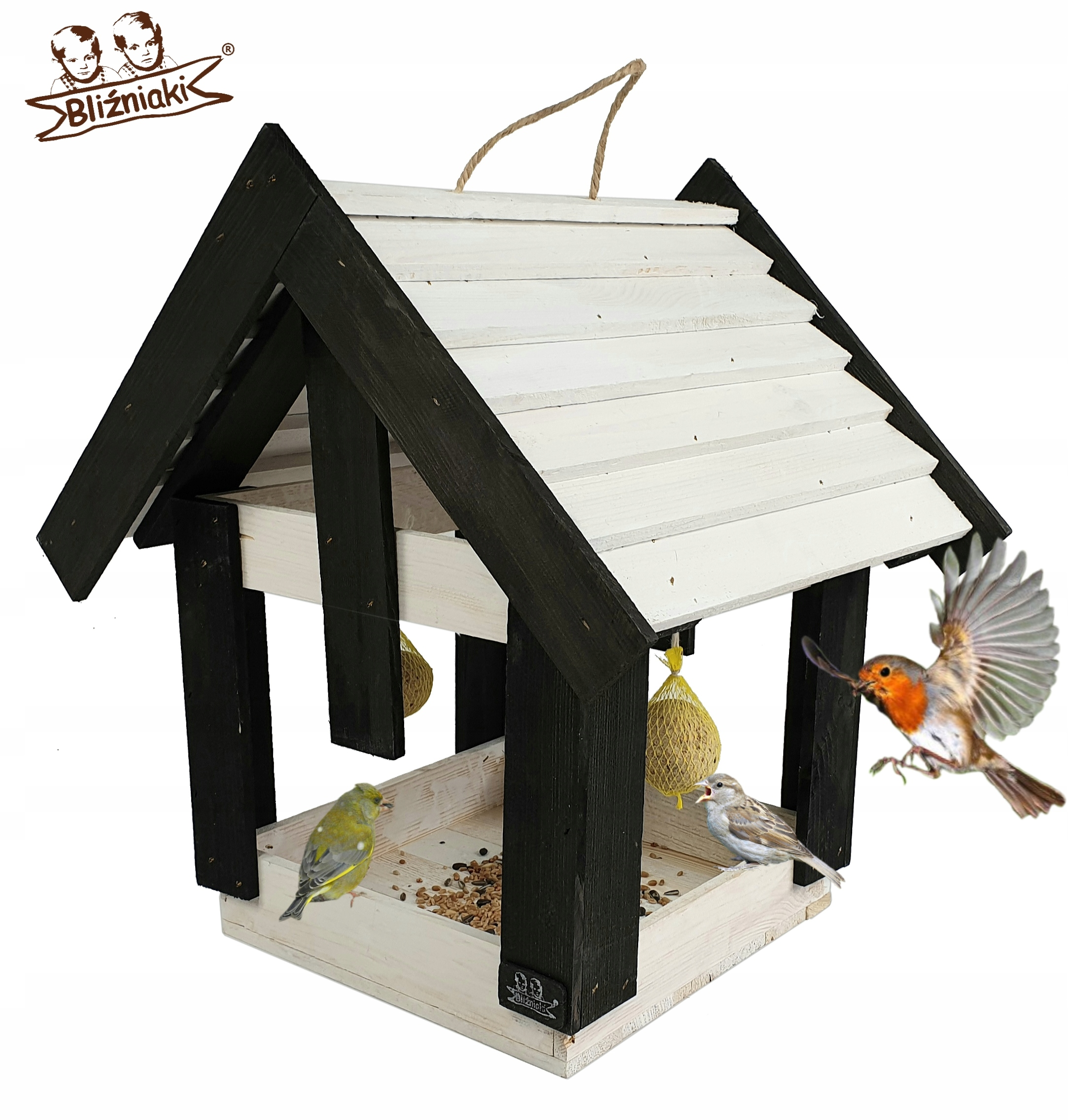 Krmítko pre Vtákov zimujúcich XXL Drevené okno