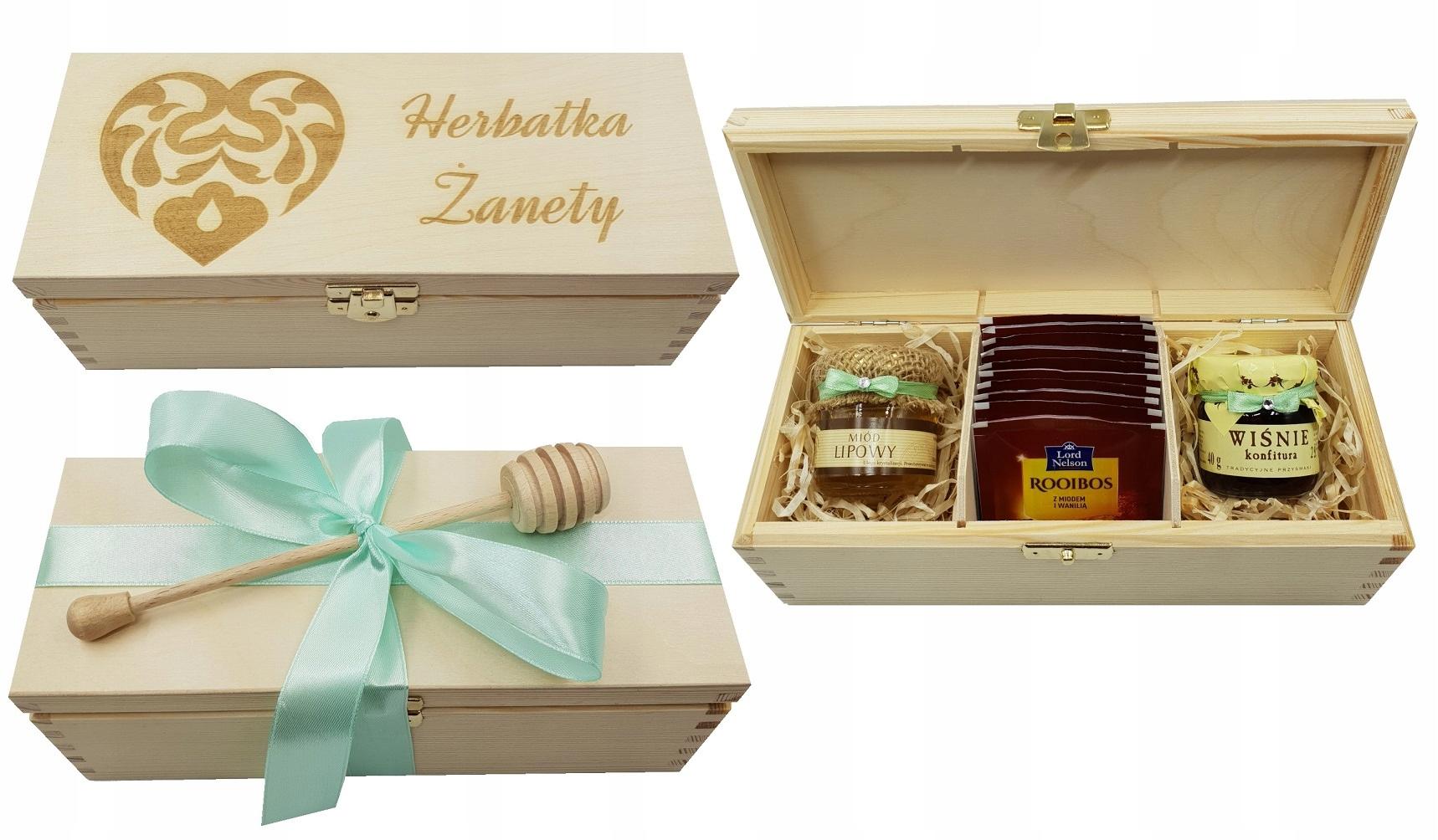 Item Set ENGRAVER tea honey GIFT herbaciarka