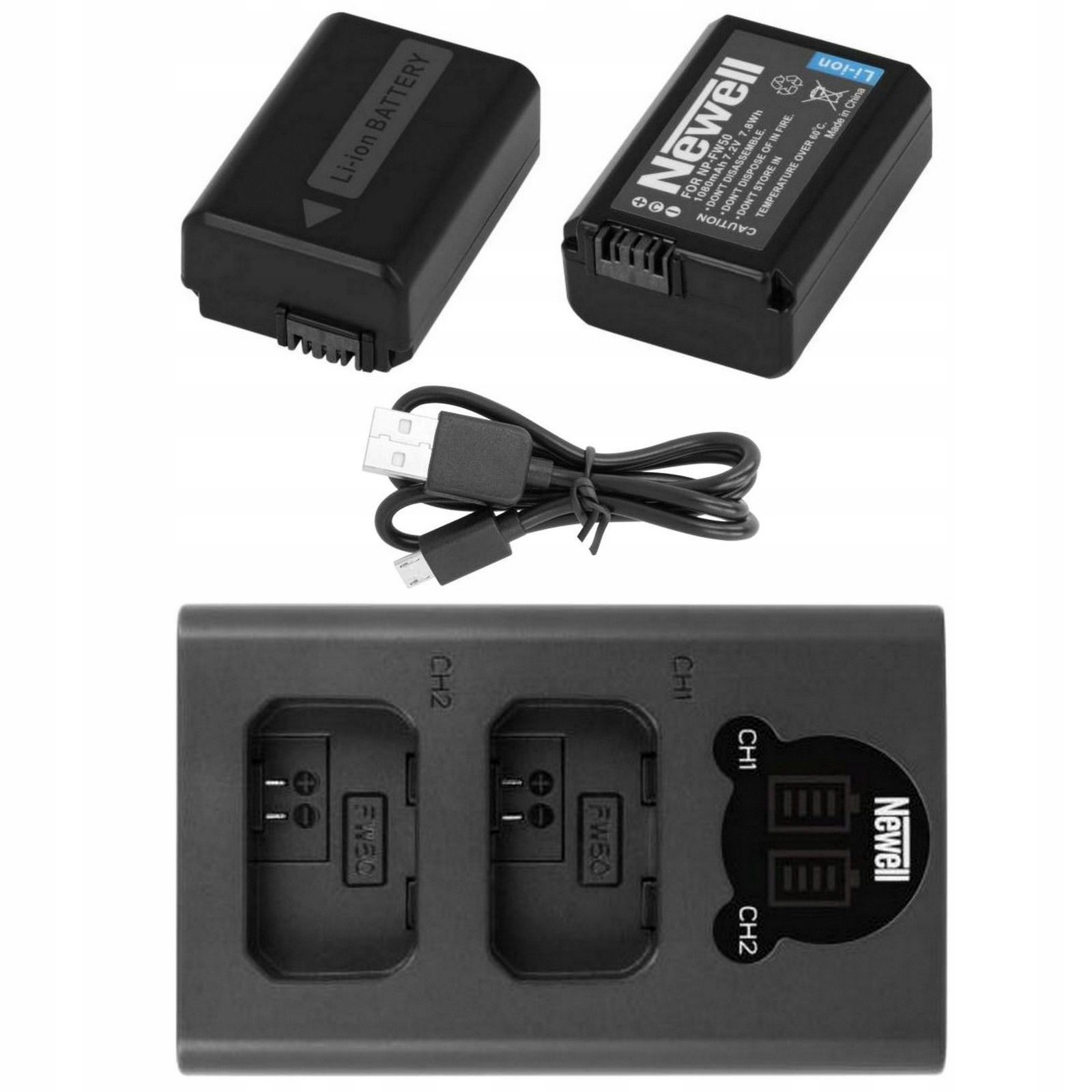 Item CHARGER LCD +2 BATTERY FOR SONY NP-FW50